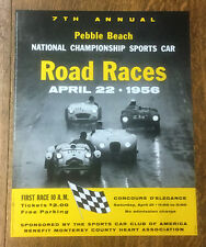 Pebble Beach Road Race Posters , 1950 - 1956, set of 7