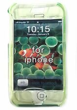CRYSTAL GREEN HARD SHELL CASE for AT&T Apple iPhone 1st Generation + Belt Clip