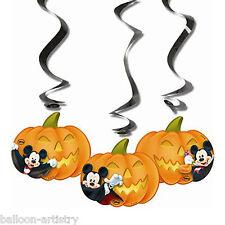 3 Halloween Disney Mickey Mouse partie Suspendus Découpe Citrouille tourbillons décorations