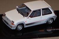 Renault 5 GT Turbo 1985 blanc  ixo 1/43