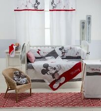 BRAND NEW DISNEY RED AND GREY MICKEY MOUSE  4 PIECE  BEDDING COT SET