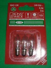 3x Konstsmide LED Topkerzen Innen E10 14- 55 V 5042-130 universal 0.3W Blister!