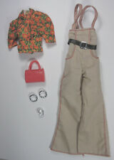 Prettie Girl Lena Doll Clothes Original Outfit Barbie Sized Overalls Shirt Jewel