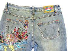 Zana Di ZD Womens Mermaid Hippie Flare Festival Stretch Jeans Size 11