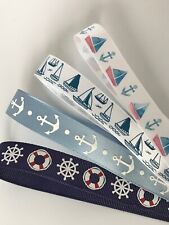 Great Quality Nautical/Sailing Ribbons in 3m, 5m or 10m cut lengths