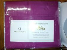 Sweet Home Collection King Size Bed Sheets-6 Piece 1500 Thread Count