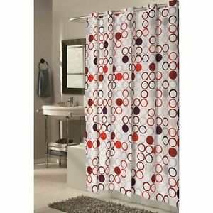 """Carnation Home Extra Wide EZ-ON® """"Bohemia"""" Polyester Shower Curtain"""