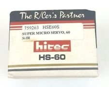Vintage Hi-Tec The R/Cer's Partner Super Micro Servo Motor HS-60 New Used Stock