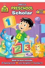 School Zone - Preschool Scholar Workbook - 32 Pages, Ages 3 to 5, Beginning Soun