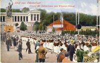 AK München, Oktoberfest, Einzug der Kellnerinnen, gel. am 7.10.1928