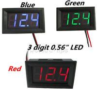 """0.56"""" 3 Digital Voltmeter LED Panel Display Volt Voltage Meter Red/Green/Blue"""