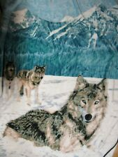 Bierderlack Blanket Winter Wolf Wolves Mountains 60x78 Snow