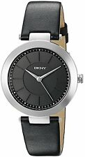 DKNY Women's NY2465 'Stanhope' Black Leather Watch