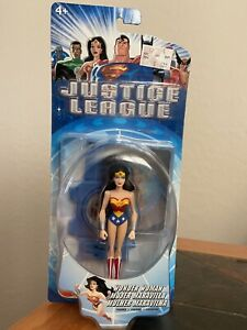 MIB Wonder Woman Justice League Mattel 2003 with stand, card; Free Shipping