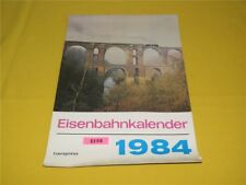 ORIGINAL transpress Eisenbahnkalender Wandkalender 1984 Kalender 29x41 cm DDR