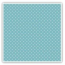 2 x Square Stickers 7.5 cm - Blue White Dotty Pattern Polka Dots  #44402