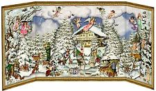 Deluxe Traditional Card Advent Calendar Large- Alpine Christmas Slide In Figures