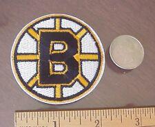 "BOSTON BRUINS NHL HOCKEY 2 1/4"" DIAMETER EMBROIDERED IRON-ON  MINI PATCH"