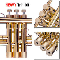 Bach Trumpet Trim Kit. KGUBrass. HEAVY Caps. Raw Brass. TKHR100