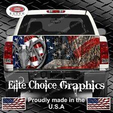American Deer Hunter Flag Camo  Truck Tailgate Wrap Vinyl Graphic Decal Wrap