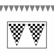 Racing Checkered Banner 100ft Nascar Birthday Party Decorations Car Flags