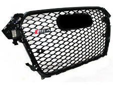 For 13-16 Audi A4 S4 B8 RS4 Front Upper Grill Sport Honeycomb Mesh Black Ring
