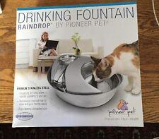 Pioneer Raindrop Stainless Steel Pet Drinking Fountain