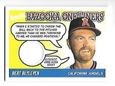BERT BLYLEVEN 2004 BAZOOKA ONE-LINERS GAME WORN JERSEY #BOL-BB FREE COMBINED S/H