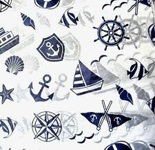 Nautical Tissue Paper # 375 / Gift Paper  - Boats - Men / Man - 10 Large Sheets