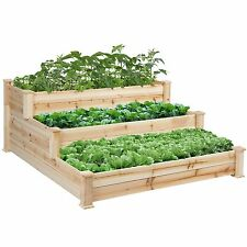 3 Tier Raised Elevated Garden Bed Box Kit Planter Vegetable Plant