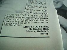 article 1968 football mrs m a steer banders rise guildford