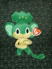 """Ty Beanie Baby ~ Pansage ~7"""" Pokemon Uk Exclusive New ~ Mint with Mint Tags Rare"""