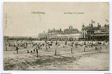 CPA-Carte postale-France -Cherbourg - La Plage et le Casino- 1904 ( CP3990 )