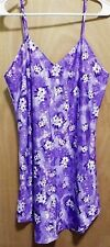 Secret Treasures Ladies 2 Pc Purple & White Floral Night Gown Set Size M Sexy