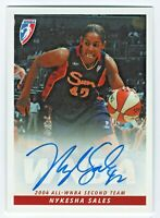 2005 WNBA Autograph #NS1 Nykesha Sales Action Connecticut Sun