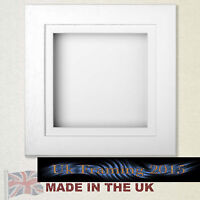 3d box picture frame textured white 40mm deep box flowers baby casts medals