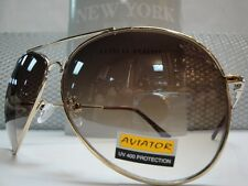 5ad0a9665e Mens or Women OVERSIZE VINTAGE RETRO Style SUNGLASSES Huge Gold Wire Metal  Frame