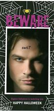 Vampire Diaries Damon Salvatore Beware Halloween 4x8 Photo Card with envelope