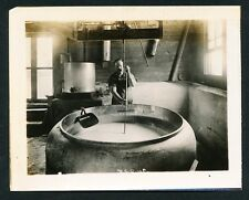 c. 1910 CHEESE MAKING, CURD CUTTING Broadhead Wisconsin Vintage Photo