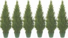 "6 TOPIARY 48"" OUTDOOR PLANT ARTIFICIAL BUSH POT CYPRESS TREE CEDAR POOL PATIO 4'"