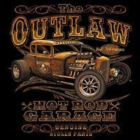 Outlaw Garage GearHead Old Skool hot rod rat alley car T-SHIRT M - 3XL