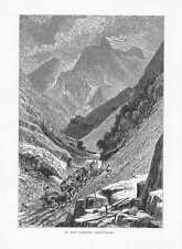 Carrara Marmorsteinbrüche Toskana HOLZSTICH um 1880 Apuanische Alpen