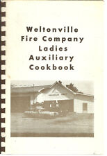 WELTONVILLE NY 1980 FIRE COMPANY LADIES NEW YORK COMMUNITY COOK BOOK * LOCAL ADS