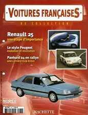 FASCICULE BOOKLET RENAULT 25 VOITURE FRANCAISE N° 62 SANS LA MINIATURE