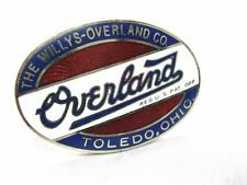 """Small Willys Overland Co. Authentic Oval  Radiator Emblem 1-3/4"""" Diameter"""