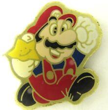 MARIO SUPER STAR OFFICIAL 1988 PIN BADGE NINTENDO CONSOLE VIDEO GAMES PROMO 2112