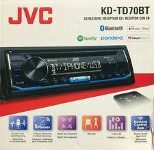 JVC KD-TD70BT 1-DIN Bluetooth In-Dash CD/AM/FM/Digital Media Car Stereo Receiver