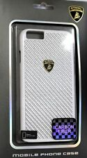 Lamborghini Elemento-D2 Real Carbon Fiber Back Cover Case for iPhone 6/6S White