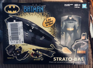 Batman Strato-Bat 3 In 1 vehicle w/ Batman figure- New in box- 2002, Hasbro