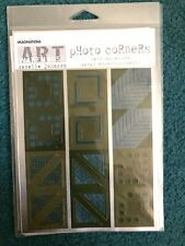 Imaginations Metal Photo Corners Scrapbook Stickers - Single Sheet - Green Theme